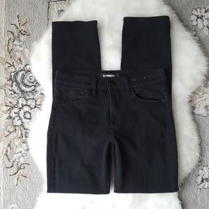 EXPRESS | Mid Rise Skinny Jeans - Black
